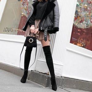 Zara Suede Top Handle Crossbody Bag